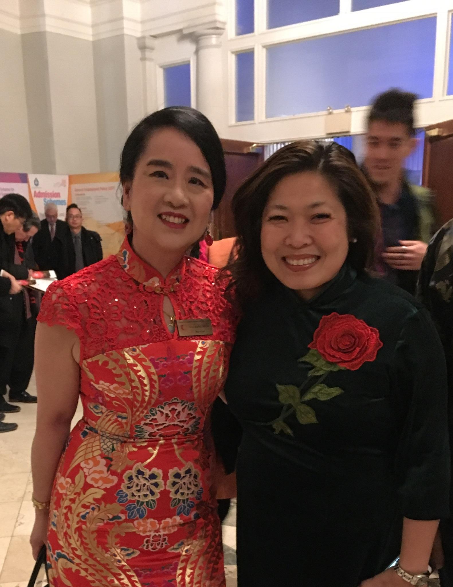 At TCBA New Year's Gala with Mary Ng