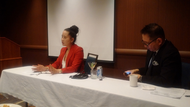 Employment Lawyer Ms. Lai-King Hum during FACL, Solo Practitioner Event
