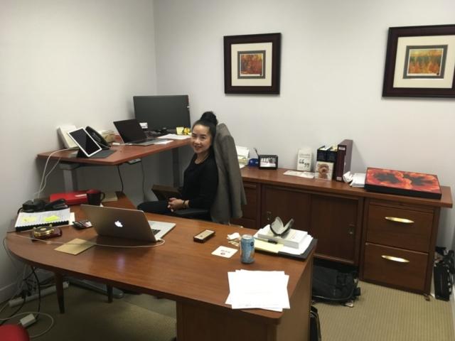 Ms. Lai-King Hum at work