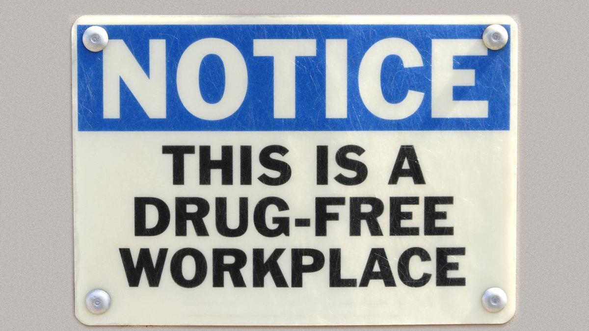 Article image of drug-free workplace sign