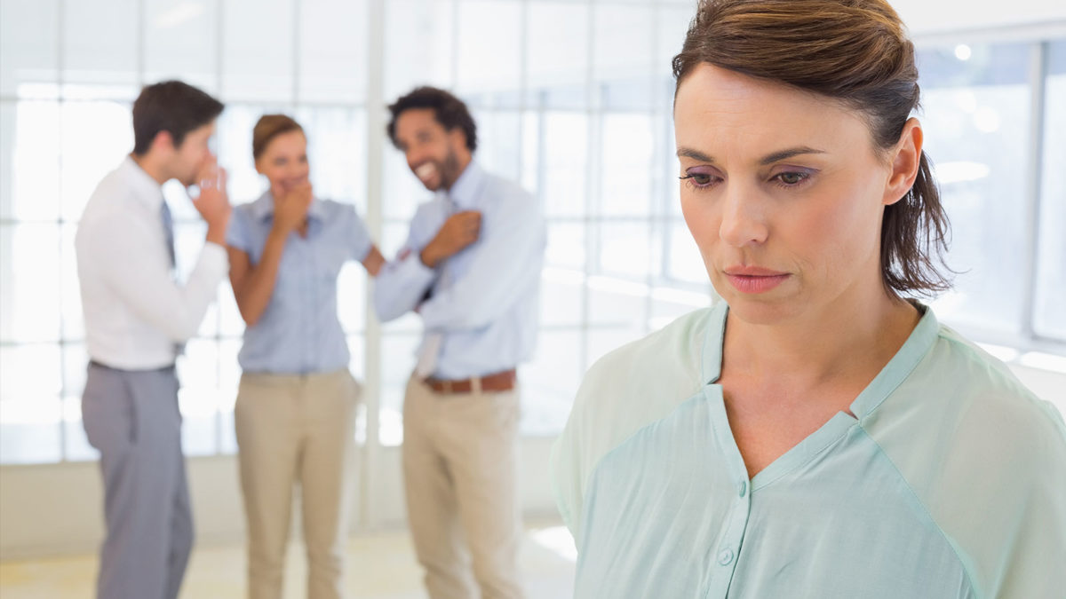Article image of psychologically harassed woman